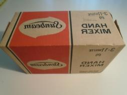 1970s Sunbeam Hand Mixer White Vintage New in Box sealed usa