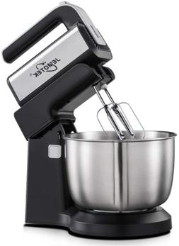 2 in 1 Hand Mixer with 4 Quarts Stainless Steel Mixing Bowl,