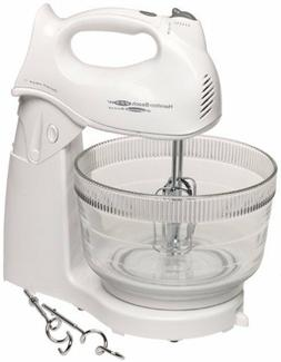 2 in 1 Hand Stand Mixer Machine w/ 4Qt Bowl Cooking Baking A