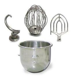 20 Qt. Attachment Package Bowl, Whip, Flat Beater, Hook Fits