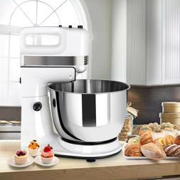 250W 5-Speed Stand Mixer w/ with Dough Hooks Beaters and Sta