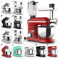 3 IN 1/Mix-only Tilt-Head Stand Mixer 6/8 Speed w/ 4.7/7QT B
