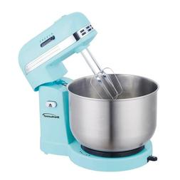 3 Qt. Stainless Steel Mixing Bowl Stand Mixer 5-Speed Blue C