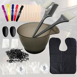 35 Pieces Hair Dye Coloring Brush and Mixing Bowl Set for DI