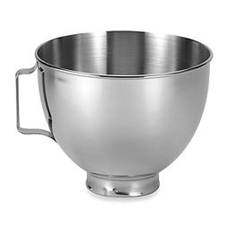KitchenAid 4.5-Quart Polished Stainless Steel Bowl with Hand