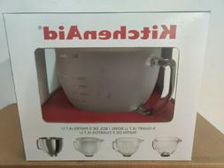 KitchenAid 5 qt. Tilt-Head Frosted Glass Bowl with Lid for S