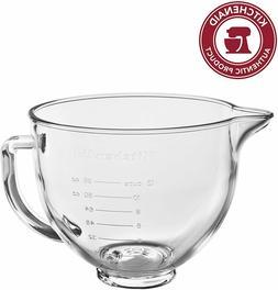 New KitchenAid 5-Quart Glass Bowl With Lid K5GB Fits Tilt Ar