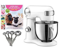 Cuisinart 5.5-quart Mixer + Measuring Spoon Set + Cupcake Bo