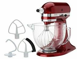 KitchenAid 5-Quart Stand Mixer Glass Bowl Granadine