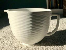5 quart textured ceramic bowl ksm2cb5tlw