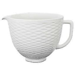 KitchenAid® 5 Quart Textured Ceramic Bowl, KSM2CB5TLW