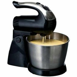 Brentwood 5-Speed Stand Mixer Stainless Steel Bowl 200W Blac