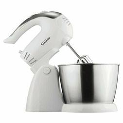 Brentwood 5-Speed Stand Mixer with Bowl - White