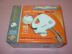 Proctor Silex 5 Speed White 100 W Hand Mixer w/ Bowl Rest 62
