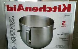 KITCHENAID 5qt stainless steel bowl for lift stand mixer