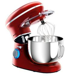 6.3 Qt Tilt-Head Food Stand Electric Mixer 6 Speed w/Stainle