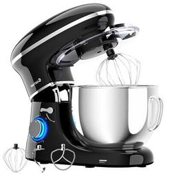 Costway 6.3 Quart Tilt-Head Food Stand Mixer 6 Speed 660W W/