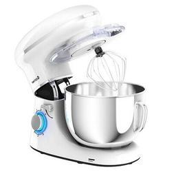 6.3 Quart Tilt-Head Food Stand Electric Mixer 6 Speed w/Stai