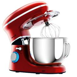 6.3 Quart Tilt-Head Food Stand Mixer 6 Speed 660W with Dough