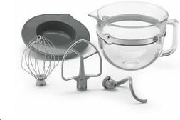 KitchenAid 6 Quart Glass Mixing Bowl with Accessories for Bo