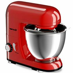 6-Speed Electric Food Stand Mixer W/4.3Qt Stainless Steel Bo