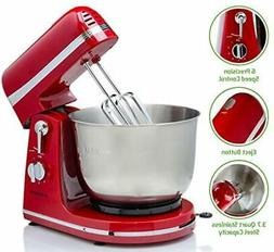 6 Speed Electric Stand Mixer with 3.7 Quart Stainless Steel