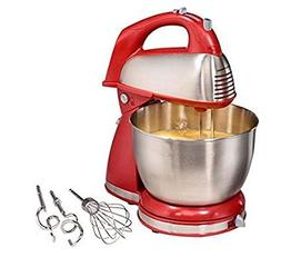 Hamilton Beach 64650 6-Speed Classic Stand Mixer, Stainless