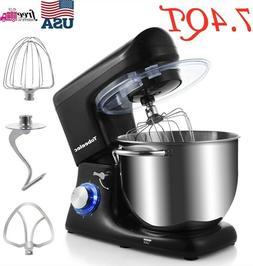 7.4QT Kitchen Stand Food Mixer, Electric 6-speed Tilt-Head M