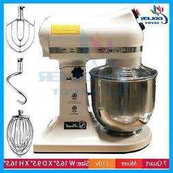 7 Quart NSF Mixer Commercial Mixer Stand Bowl 3 Attachments