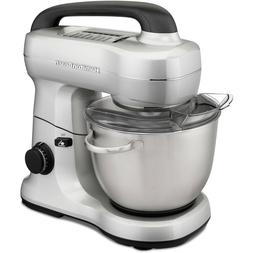 Hamilton Beach 7 Speed Stand Mixer with Whisk, Dough Hook, F