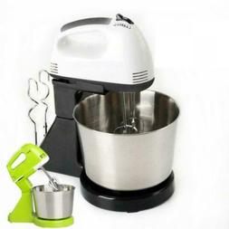 7 Speed Electric Food Stand Hand Mixer Bowl Cake Dough Hook