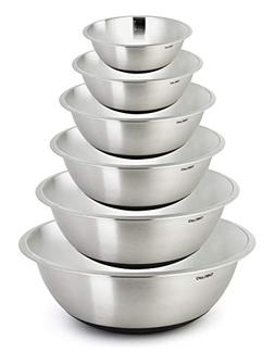 ChefLand Non Slip Stainless Steel Mixing Bowls 6-Piece Set W