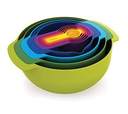 Joseph Joseph 40087 Nest 9 Nesting Bowls Set with Mixing Bow