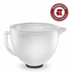 KitchenAid K5GBF Tilt-Head Frosted Glass Bowl with Measureme