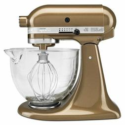 KITCHENAID ARTISAN 5 QT TILT HEAD STAND MIXER W/ GLASS BOWL