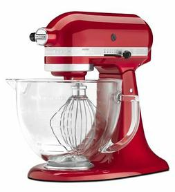 KitchenAid Artisan 5 Quart Tilt-Head Stand Mixer with Glass