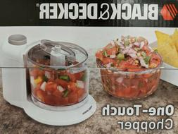 Black & Decker 1.5-Cup One-Touch Electric Chopper in White H