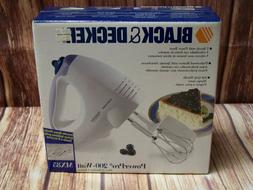 Black & Decker MX85 PowerPro 200W 5 Speed Hand Mixer White N
