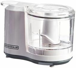 Black & Decker One-Touch 1.5 Cup Capacity White Chopper