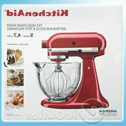 BRAND NEW KITCHENAID 5-QUART GLASS BOWL TILT HEAD PRO STAND