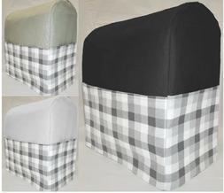 Canvas White & Gray Buffalo Checked Cover Compatible w/ Kitc
