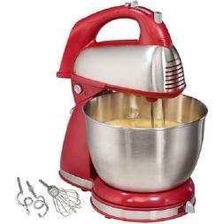 Hamilton Beach Classic Hand and Stand Mixer,Stainless-steel