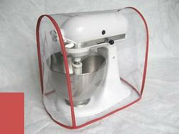 CLEAR MIXER COVER fits KitchenAid Artisan Tilt-Head - RED tr