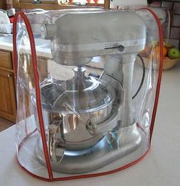 CLEAR MIXER COVER fits KitchenAid Bowl Lift Mixer - RED Trim