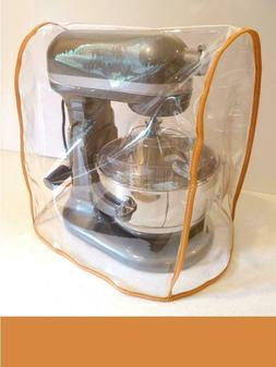 CLEAR MIXER COVER fits KitchenAid Bowl Lift - ORANGE Trim -