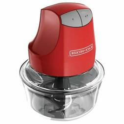 BLACK+DECKER EHC3002B Glass Bowl Chopper , Red