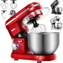 VIVOHOME Electric 650W 6-Speed Tilt-Head Food Stand Mixer Bl