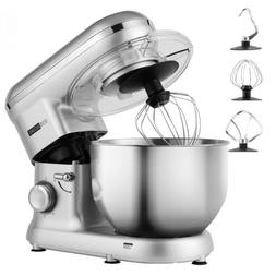 VIVOHOME Electric 6-Speed Stand Mixer Tilt-Head Stainless St