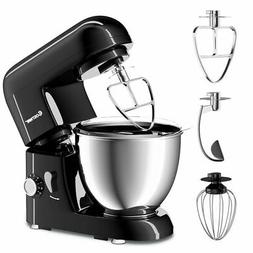 Electric Food Stand Mixer 6 Speed 4.3Qt 550W Tilt-Head Stain