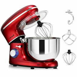 Electric Food Stand Mixer 6 Speed 6.3 Quart 660W Tilt Head S